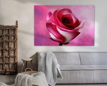 Schilderij van een roos