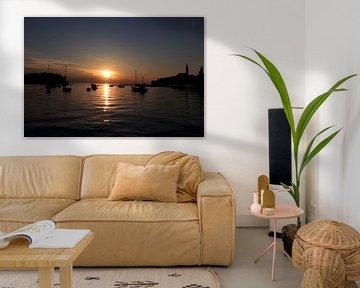 Zonsondergang in de haven van Nina Rotim