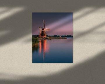 Windmühle De Helper, Haren, Groningen, Niederlande von Henk Meijer Photography
