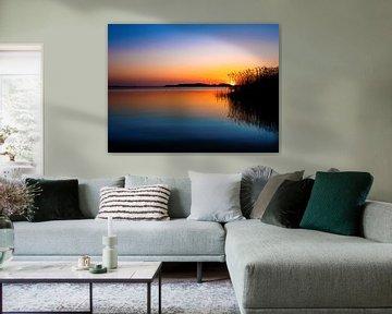 Zonsondergang aan het meer van Max Steinwald