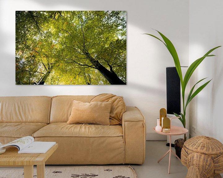 Sfeerimpressie: Yellow tree sky van The Pixel Corner