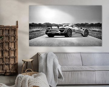 Porsche Spider 918 schwarz / weiß von Martijn van Dellen