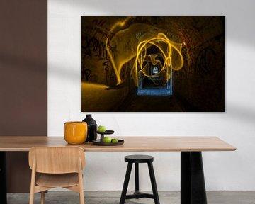 Fort in geel en blauw von Steven Langewouters