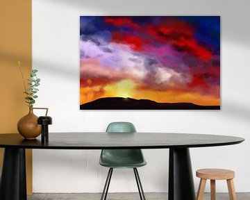 Farbenfrohes Bild einer Landschaft von Tanja Udelhofen