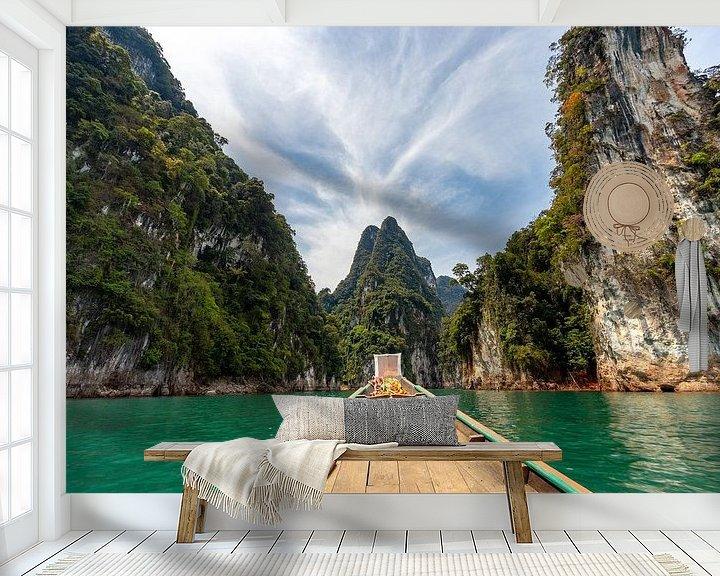 Beispiel fototapete: Schöne Berge im Khao Sok Nationalpark (Thailand) von Martijn Mureau