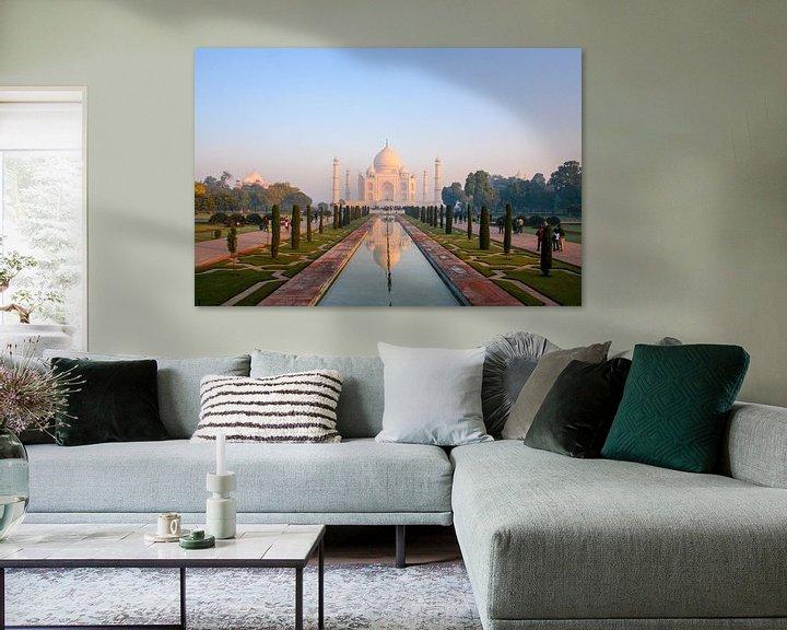 Beispiel: Taj Mahal an einem frühen Morgen von Martijn Mureau