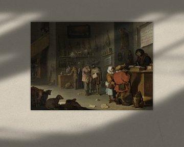 Satire zu den Rechtsstreitigkeiten der Bauern, Cornelis Saftleven