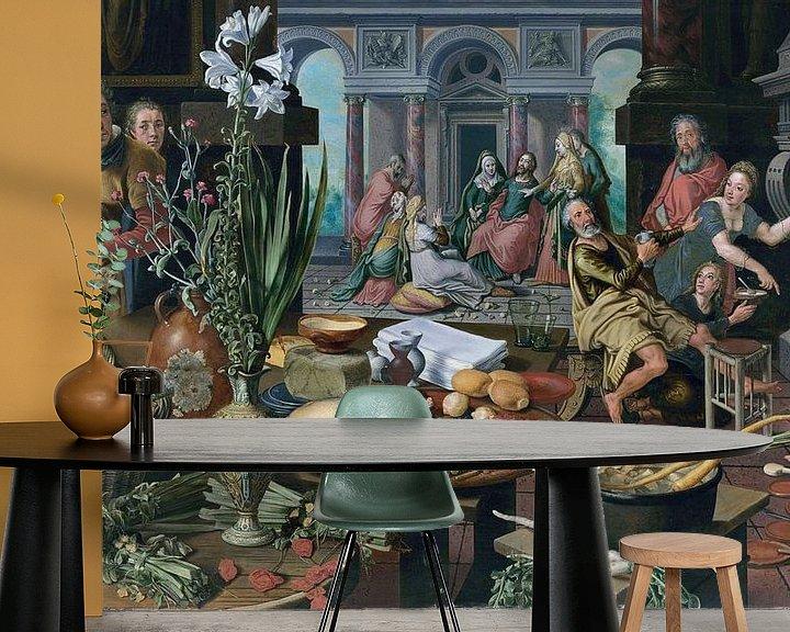 Beispiel fototapete: Stillleben mit Christus im Haus von Martha und Maria, Pieter Aertsen