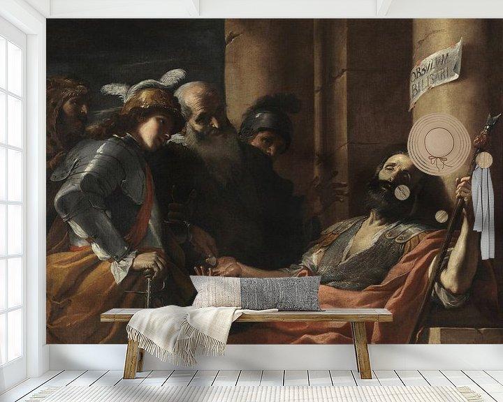 Beispiel fototapete: Belisarius erhält Almosen, Mattia Preti