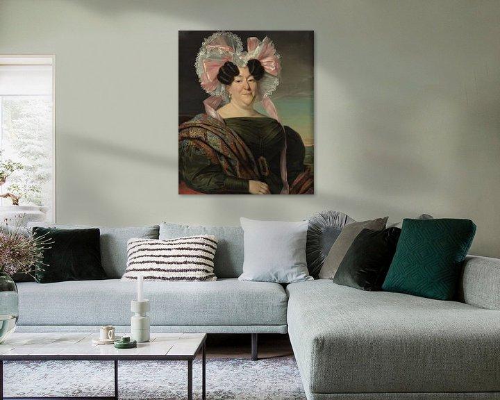 Beispiel: Porträt einer Dame, Jan Adam Kruseman
