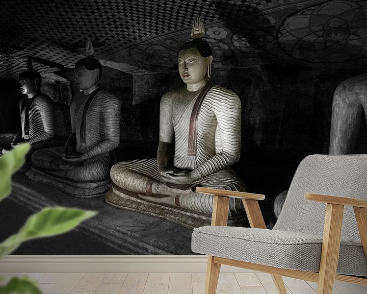 Beispiel fototapete: Höhlenbuddha von Eddie Meijer