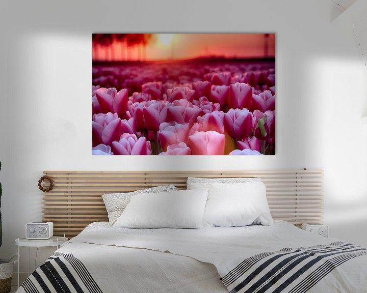 Sfeerimpressie: Roze tulpen van Sandra de Heij