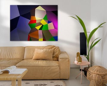 Kein Spaceman (2019) von Pat Bloom - Moderne 3D, abstracte kubistische en futurisme kunst