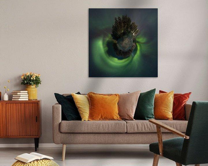 Sfeerimpressie: Little planet Aurora van Rene Wolf