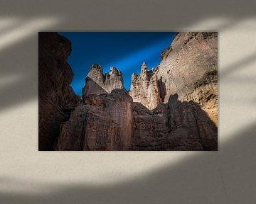 rotsformatie in timna nationaal park in israel van Compuinfoto .