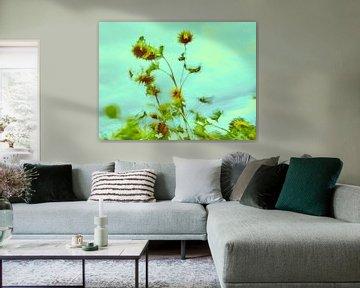 Sonnenblumen im Wind 8 von Andreas Gerhardt