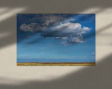 Wandelen op de pier van PaesensModdergat in Friesland van Harrie Muis