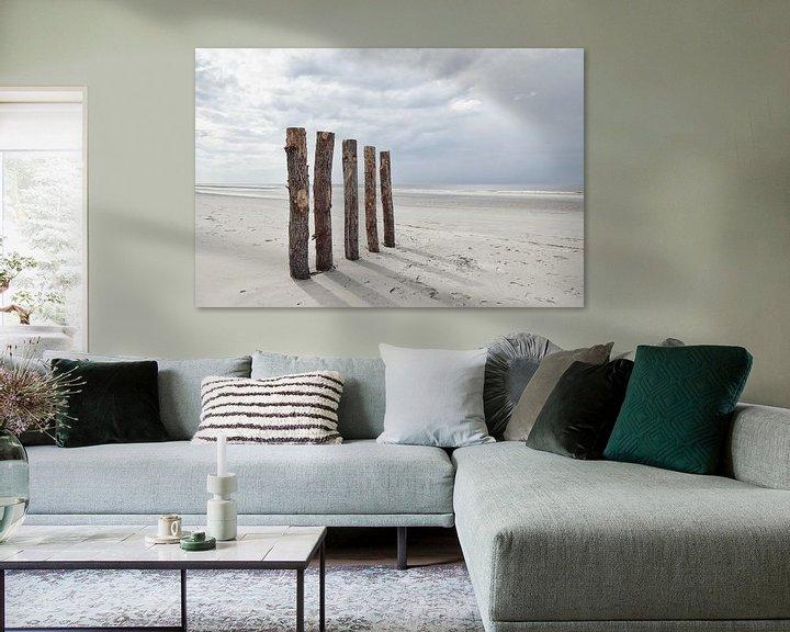 Impression: Pile Heads à Renesse sur Zeeland op Foto