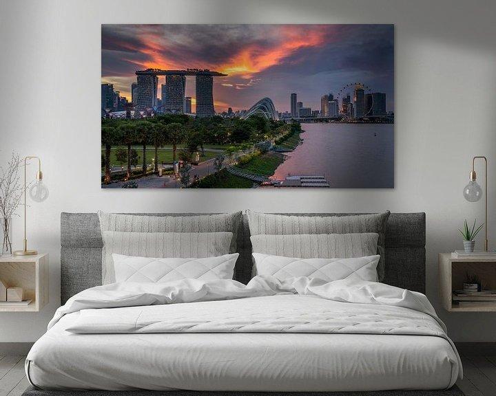 Beispiel: Sunsetview over Singapore von Bart Hendrix