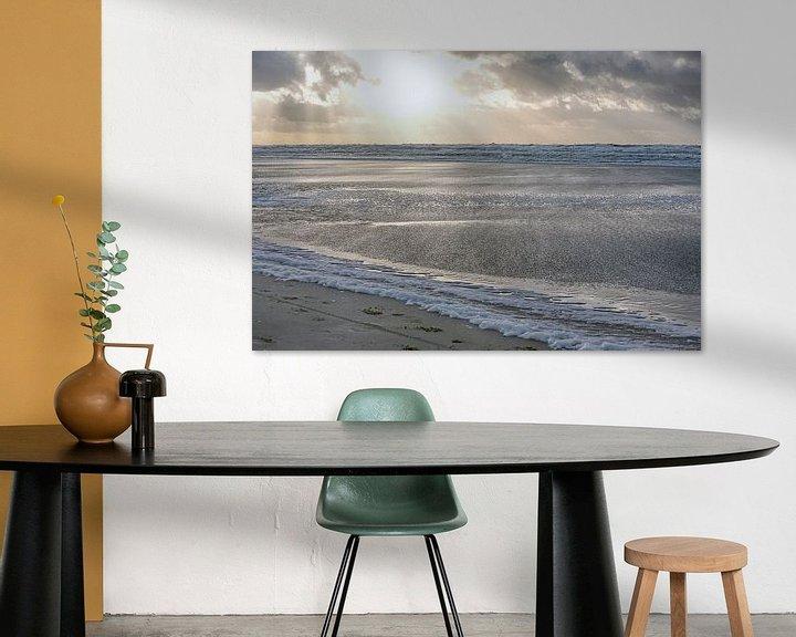 Sfeerimpressie: Ruige zee Egmond van Ronald Smits