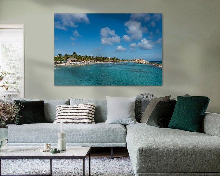 Sfeerimpressie: Curacao, Seaquarium beach van Keesnan Dogger Fotografie