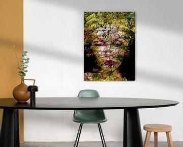 The woman with the fern von Gabi Hampe