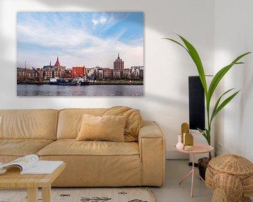 Blick auf den Stadthafen in Rostock von Rico Ködder
