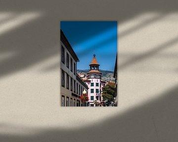 Blick auf Gebäude in Funchal auf der Insel Madeira, Portugal von Rico Ködder