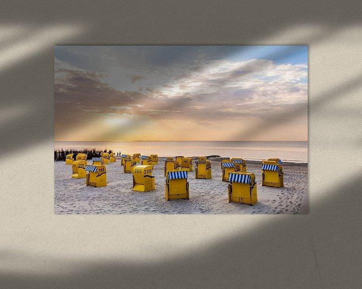 Beispiel: Strand an der Nordsee in Cuxhaven von Werner Dieterich