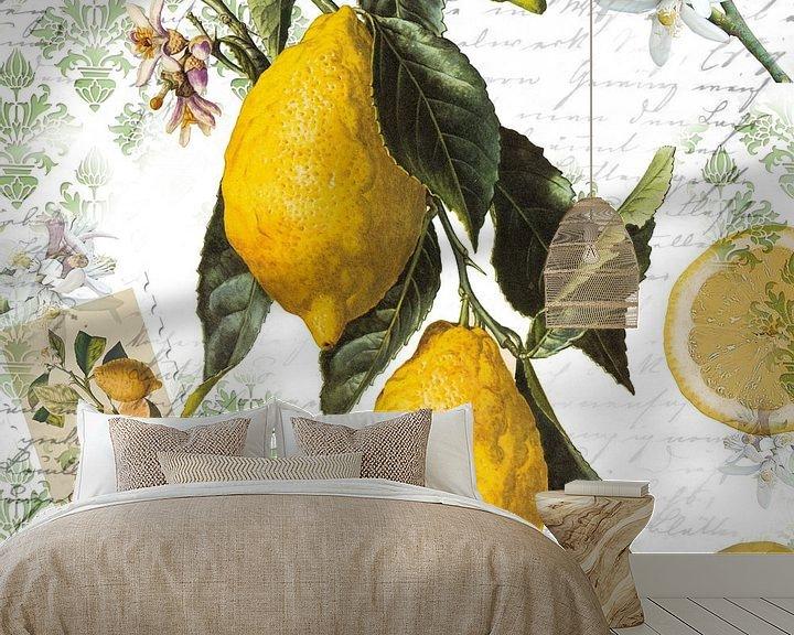 Sfeerimpressie behang: Zitronenzweig van christine b-b müller