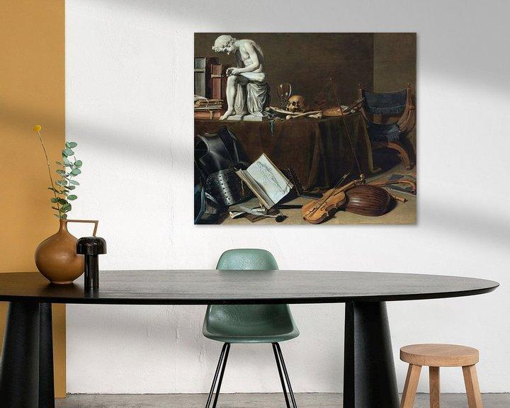 Beispiel: Vanitas-Stillleben mit dem Dornenauszieher, Pieter Claesz