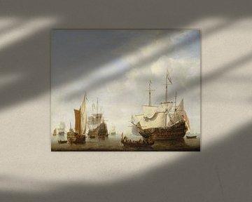 Ein holländisches Kriegsschiff vor Anker, Willen van de Velde der Jüngere