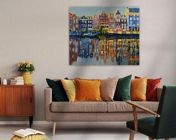 Die Grachten von Amsterdam von Branko Kostic