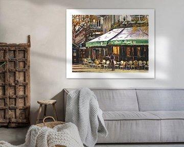Jean - Les Deux Magots Café Parijs van Branko Kostic