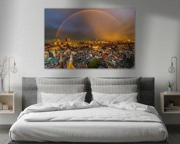 Regenboog boven Den Haag van Original Mostert Photography