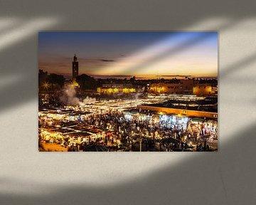 Marrakesh, Djemaa el Fna van Jan Schuler