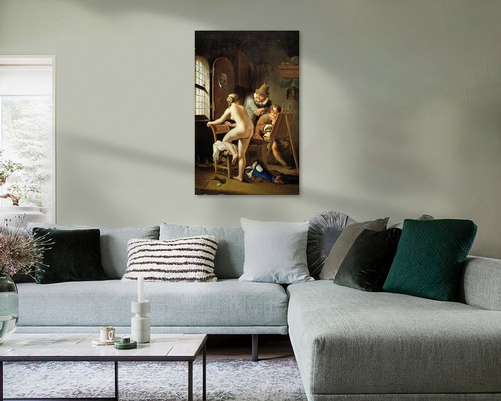 Beispiel: Der Maler und sein Model, Arnold Houbraken