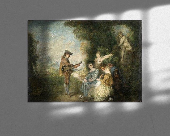 Beispiel: Die Liebesstunde, Antoine Watteau