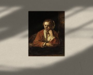 Jong meisje in het venster, Rembrandt