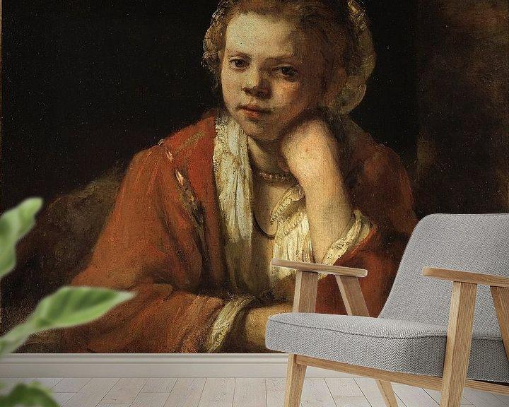 Impression: The Kitchen Maid, Rembrandt