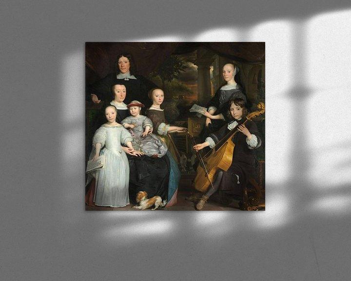 Impression: David Leeuw met zijn gezin, Abraham van den Tempel