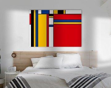Piet Mondriaan stijl van Marion Tenbergen