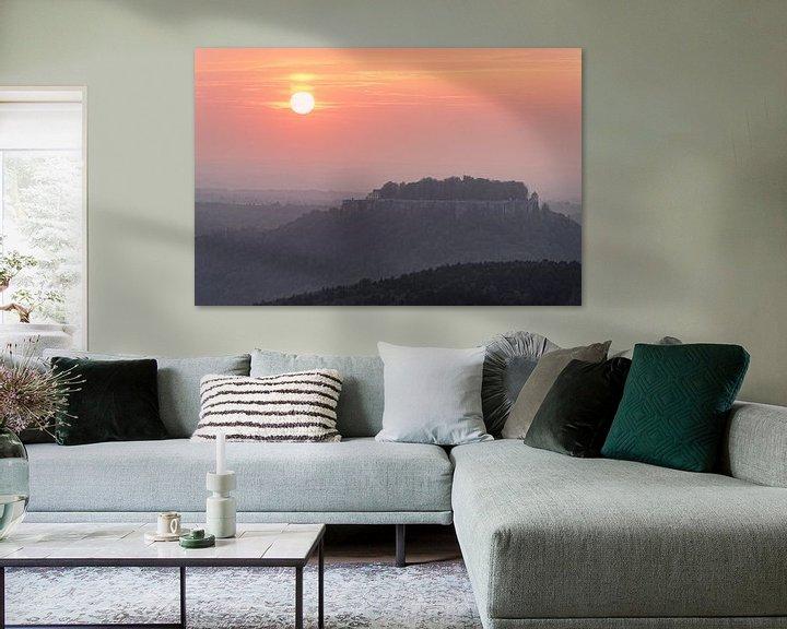 Beispiel: Elbsandsteingebirge - Sonnenuntergang am Königstein von Ralf Lehmann