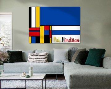 Piet Mondriaan met letters