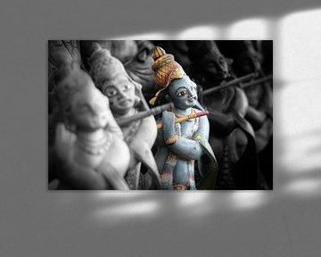 Dieu Rama joue de la flûte (duotone)