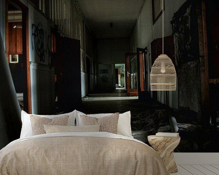 Beispiel fototapete: Spooky hallway von Melvin Meijer