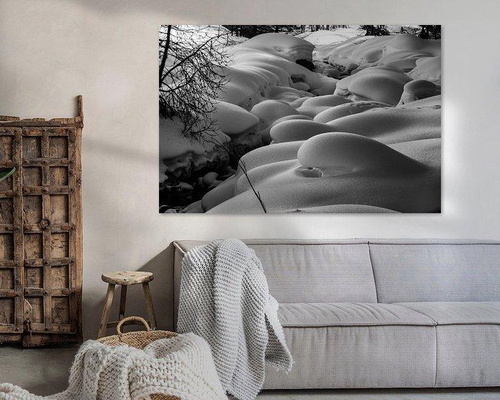 Impression: Natuurlijke sneeuwkussens (pillows) langs de Findelbach sur Arthur Puls Photography
