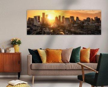 Skyline Rotterdam during Sunset von Niels Dam