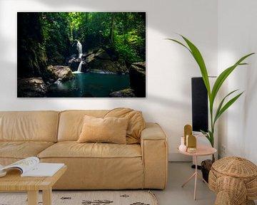Sumatra waterval, tropical waterfall van Corrine Ponsen