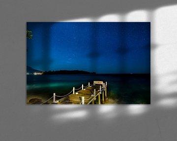 oceaan bij nacht, ocean by night van Corrine Ponsen